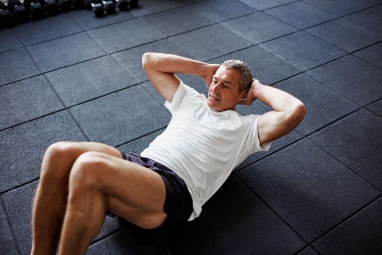 Core Crunches for seniors