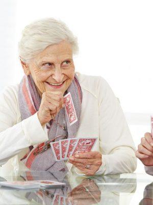Elderly Card Playing