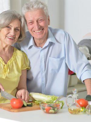 Senior Couple Cooking