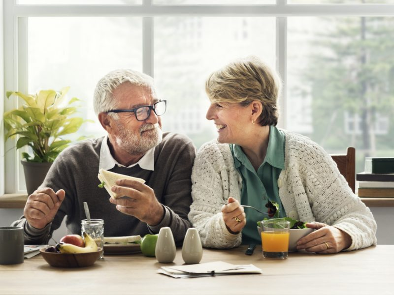 Senior Couple Eating